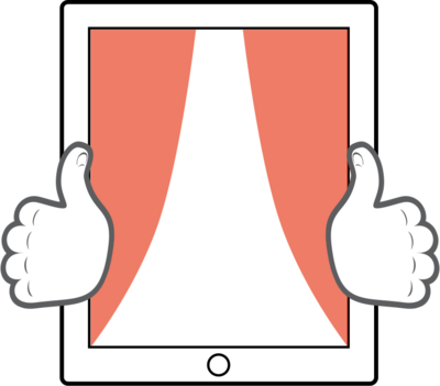 Tablet thumb zone