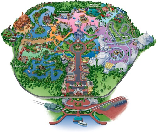 Map of Disneyworld's Magic Kingdom