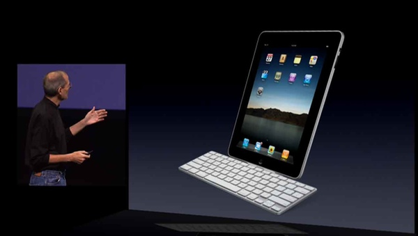 Steve Jobs introducing the iPad Keyboard Dock