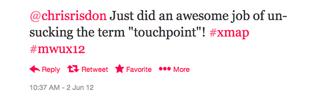 tweet about touchpoints