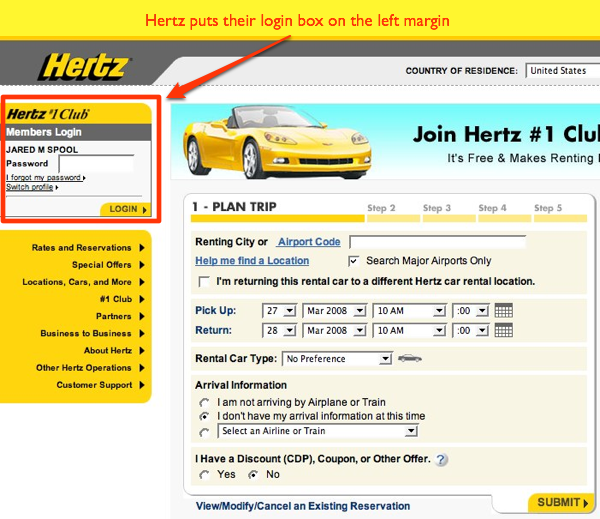 Hertz Home Page