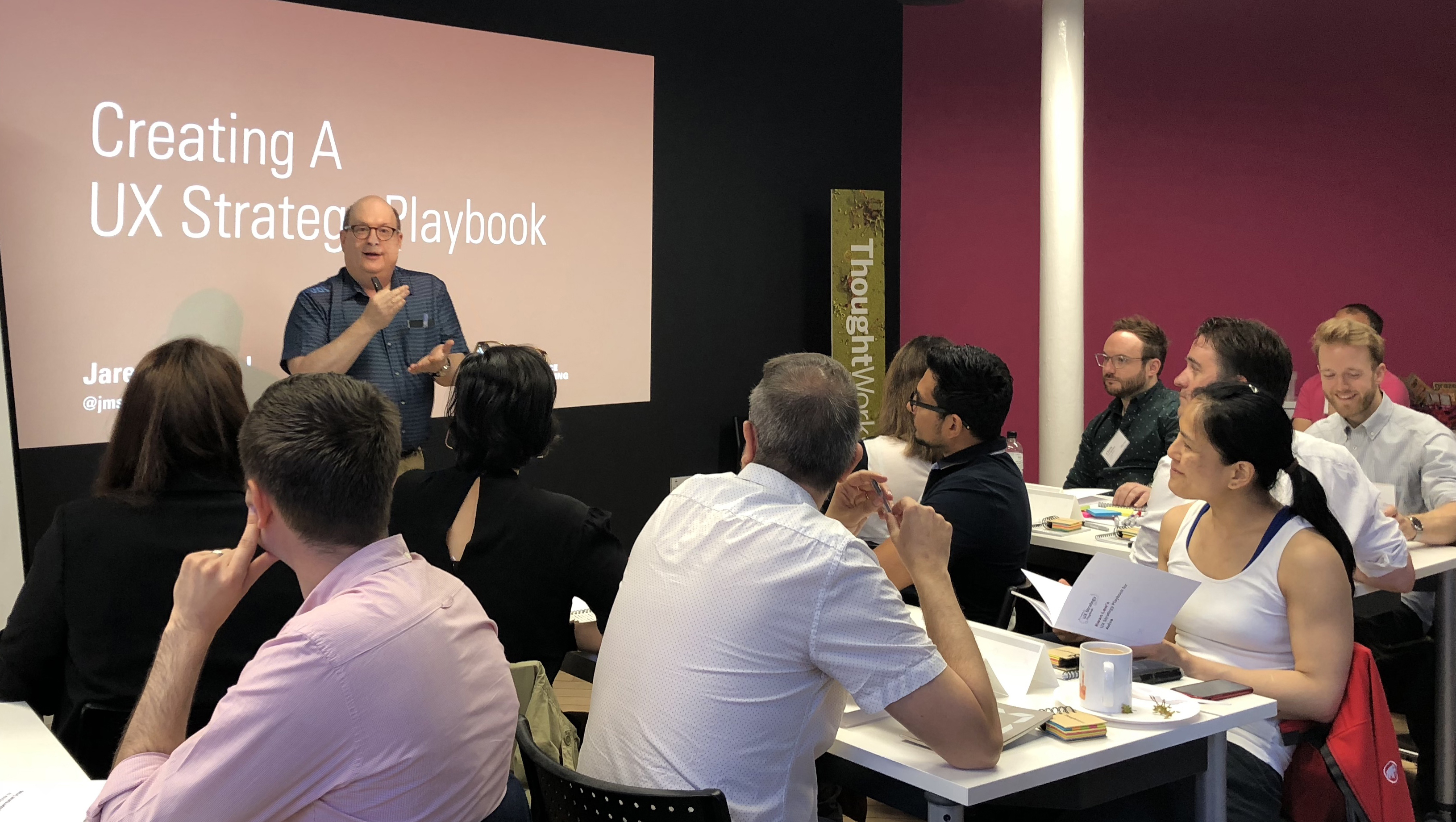 Our first Creating a UX Strategy Playbook workshop at ThoughtWorks.