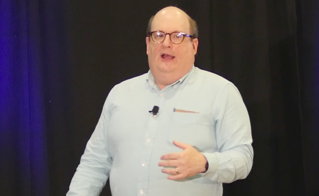 Screenshot of Jared Spool speaking